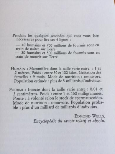 Le Fourmis text